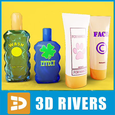 Bath hair bottles set by 3DRivers