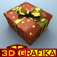 3ds christmas gift box