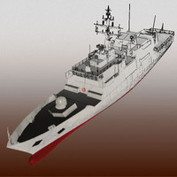 3d nave comandante navy ship model