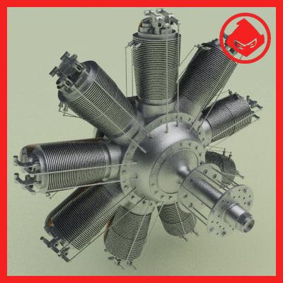 Clerget WW1 Rotary Engine