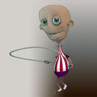 3d rigged boy tim