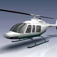 206l longranger helicopter 3d 3ds