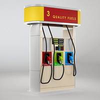gas dispenser generic 3d max