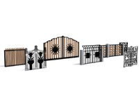 3d model decorative gates