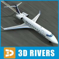 3d gulfstream g500 model