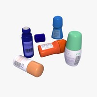 3d model deodorants set