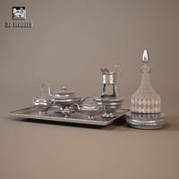 classical silver 3d model