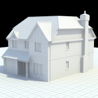 english house 3d obj