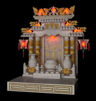 3d chinese spirit house model