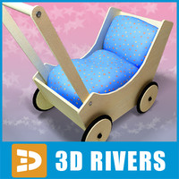 Toy baby carriage 06 by 3DRivers