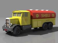 scammell tanker truck 3d model