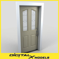 residential entry door 05 3d 3ds