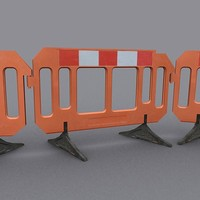 plastic construction barrier 3d max