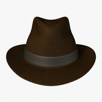 indiana jones hat 3d model