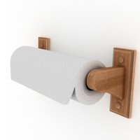 3d model of paper towel