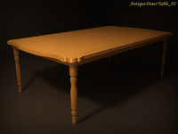 3d antique diner table 02 model