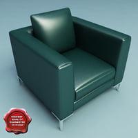 3d model armchair v8
