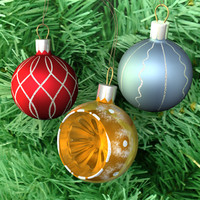 christmas tree baubles 3d model