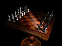 3d obj chess table
