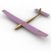 3d foam glider model