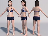 3d teenager girl games model