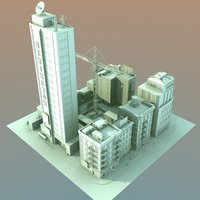 3d model definition city block cityscapes