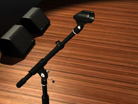Microphone Stand with Clip