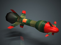 Missile 02 Low-polygon game-ready model