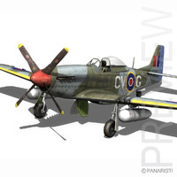 cinema4d north american p-51d p-51 mustang