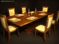 3d shelton diner set 02