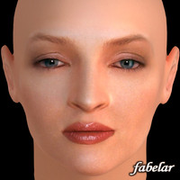 3d model head uma thurman