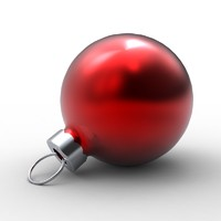 Christmas tree bulb ornament