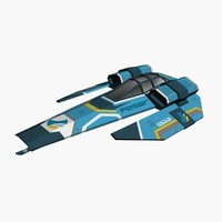 free wipeout ship feisar 3d model