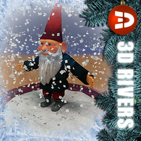 3d model of snow globe gnome