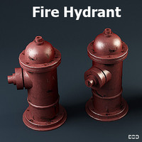 free hydrant los angeles 3d model