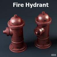 free hydrant los angeles 3d model
