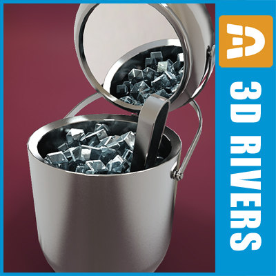3d ice bucket model - Ice bucket 02 by 3DRivers... by 3DRivers