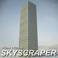 3d truax skyscraper 01 model