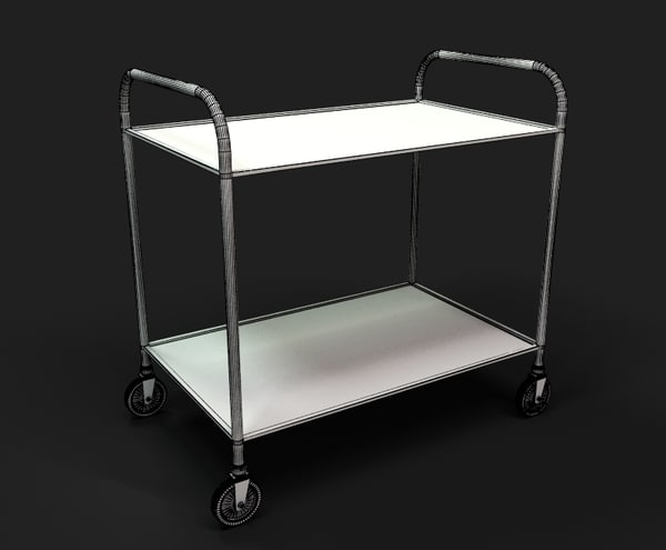 Room service cart 3d 3ds for Hotel room service cart