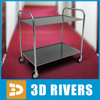 room service cart 3d 3ds