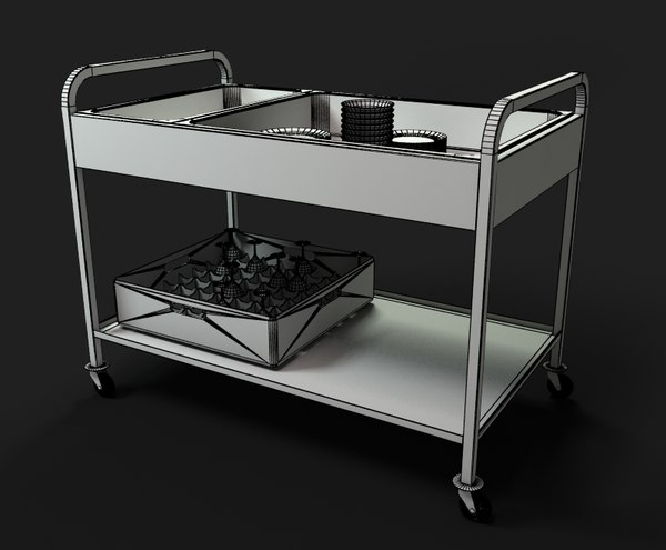 Room service cart 3ds for Hotel room service cart