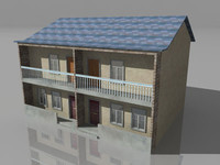 duplex house double story 3d ma