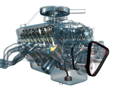3d v8 engine fully fx - V8 Engine Fully Animated / Textured / FX... by Lee_Eduard
