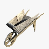 3d wooden wheelbarrow