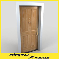 3d model residential entry door 22