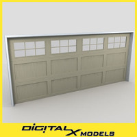 residential garage door 20 3d max