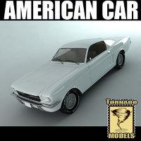 3d model american car