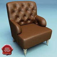 3d max armchair classic v7