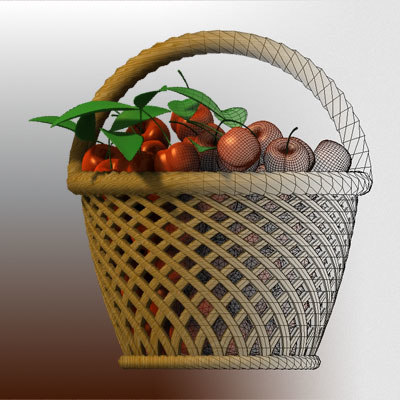 3ds cherries basket - Cherries basket... by 3dmediatoonz