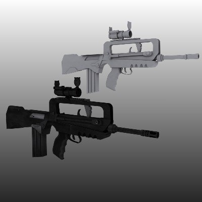 Famas with Aimpoint